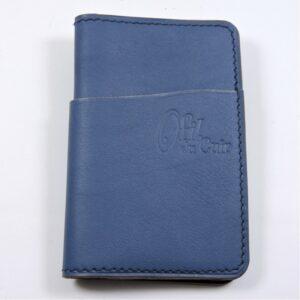 Porte cartes bancaire billet cuir maroquinerie Lyon bleu