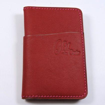 Porte cartes bancaire billet cuir maroquinerie Lyon bordeaux accessoire