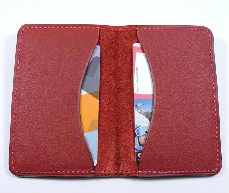 Porte cartes bancaire billet cuir maroquinerie Lyon bordeaux