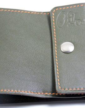 Porte chéquier commercial cuir maroquinerie Lyon kaki accessoire