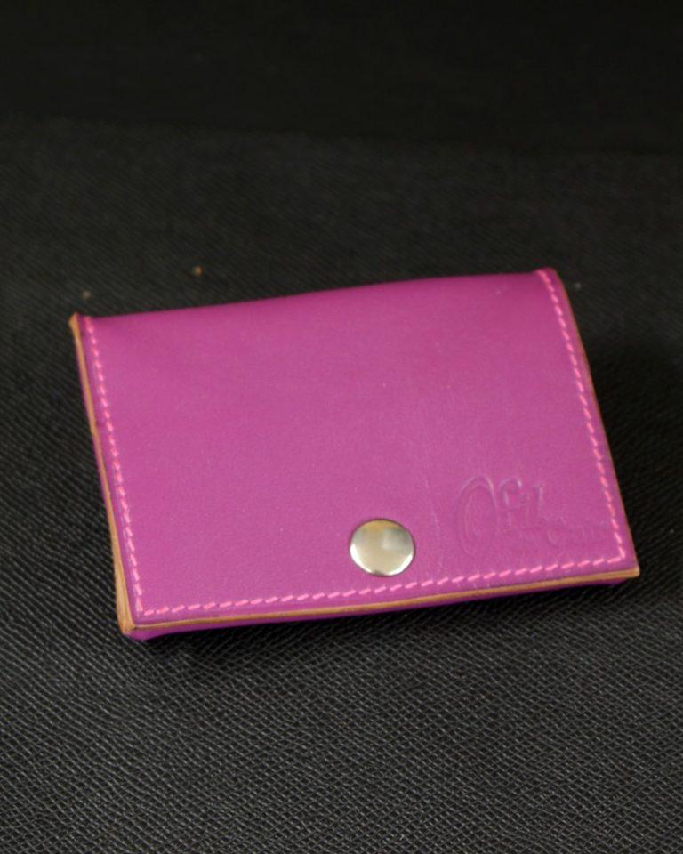 porte monnaie cuir violet maroquinerie Lyon accessoire ofilducuir