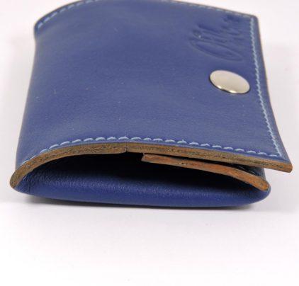Porte monnaie cuir maroquinerie femme lyon bleu marine ofilducuir