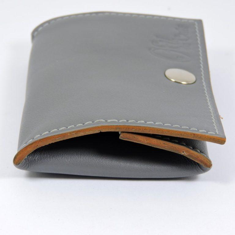 Porte monnaie cuir maroquinerie femme lyon gris ofilducuir