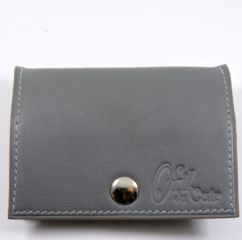 Porte monnaie cuir maroquinerie femme lyon gris