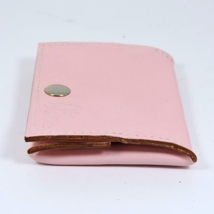Porte monnaie cuir maroquinerie femme lyon rose pâle ofilducuir