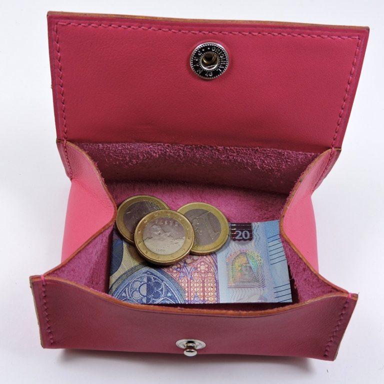Porte monnaie cuir maroquinerie femme lyon rose