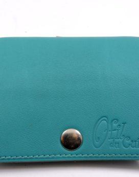 Porte monnaie cuir maroquinerie femme lyon vert ofilducuir
