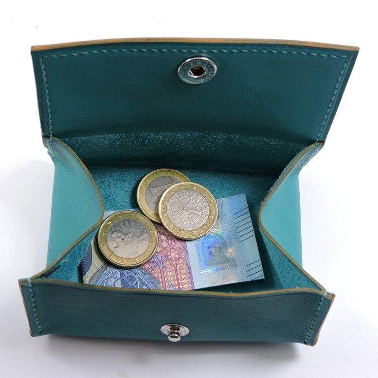 Porte monnaie cuir maroquinerie femme lyon vert accessoire