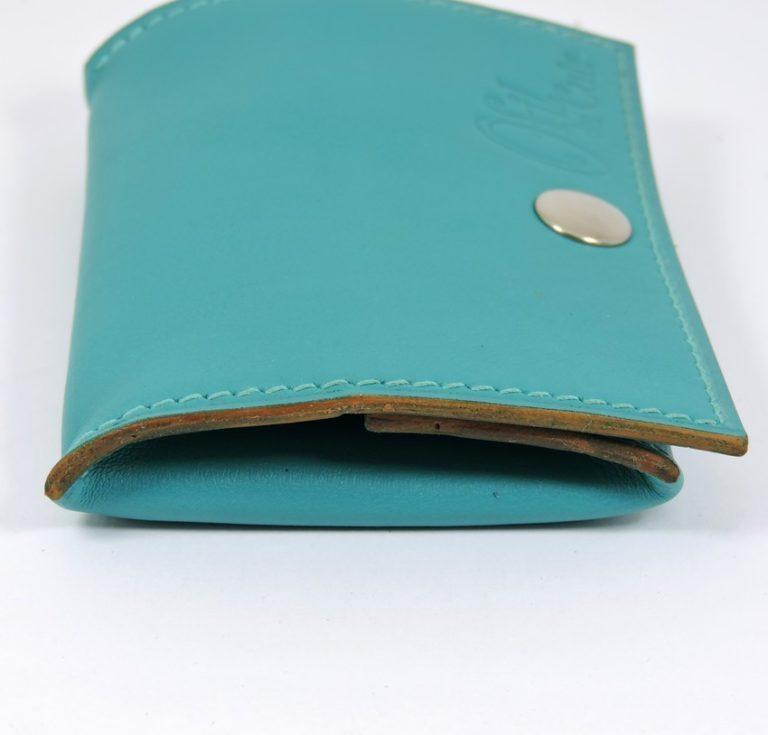 Porte monnaie cuir maroquinerie femme lyon vert