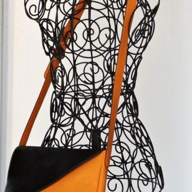 sac à main cuir besace jaune femme cuir veau swift maroquinerie lyon