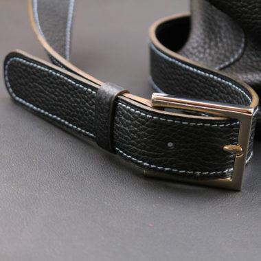 sac à main véro cuir asymétrique grainé artisan maroquinerie lyon