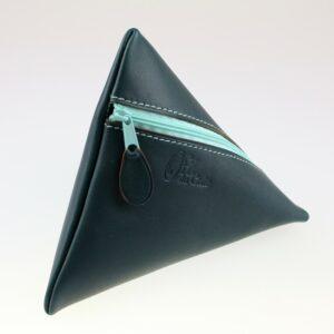 Pochette berlingot accessoire maroquinerie cuir vert