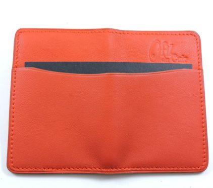 Porte cartes bancaire billet cuir maroquinerie Lyon rouge homme