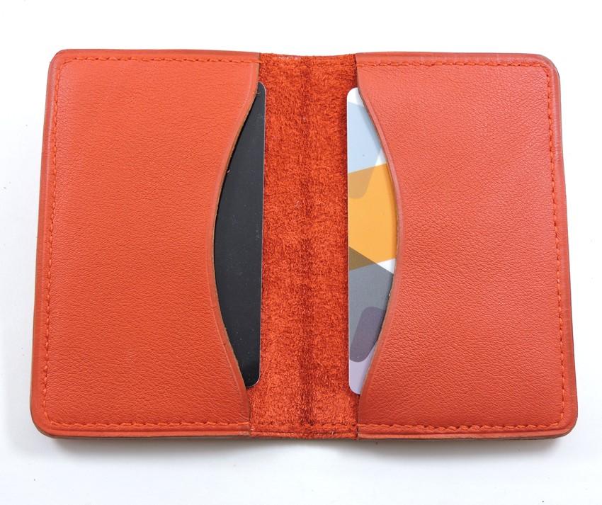 Porte cartes bancaire billet cuir maroquinerie Lyon rouge
