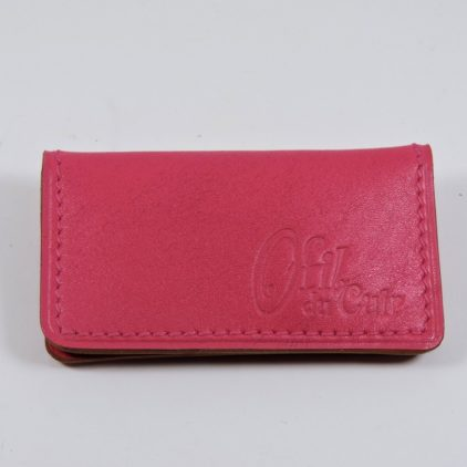 porte ticket cuir metro bus paris lyon maroquinerie rose accessoire