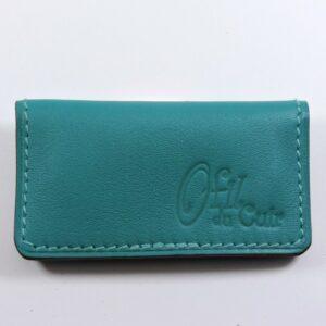 porte ticket cuir metro bus paris lyon maroquinerie bleu turquoise accessoire