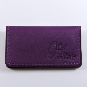 porte ticket cuir metro bus paris lyon maroquinerie violet