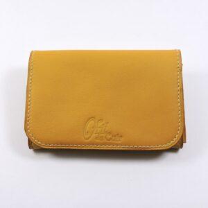 Porte monnaie cartes bancaires papier maroquinerie Lyon femme cuir camel portefeuille accessoire