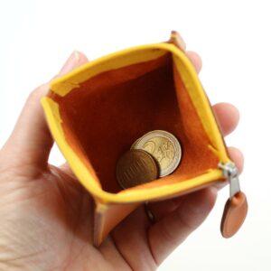 Porte monnaie cuir fauve femme maroquinerie Lyon