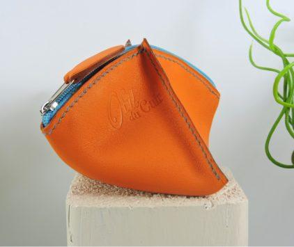 porte-monnaie-cuir-femme-maroquinerie-Lyon-ofilducuir-orange