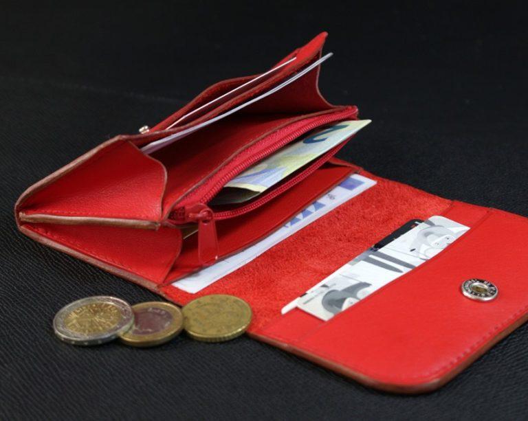 porte monnaie cuir accessoires femme rouge ofilducuir