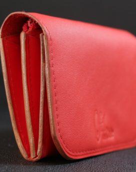 porte monnaie cuir accessoire homme rouge ofilducuir