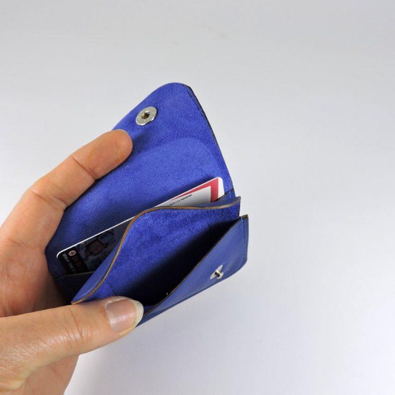 Porte monnaie cartes bancaires cuir-maroquinerie Lyon homme bleu saphir femme
