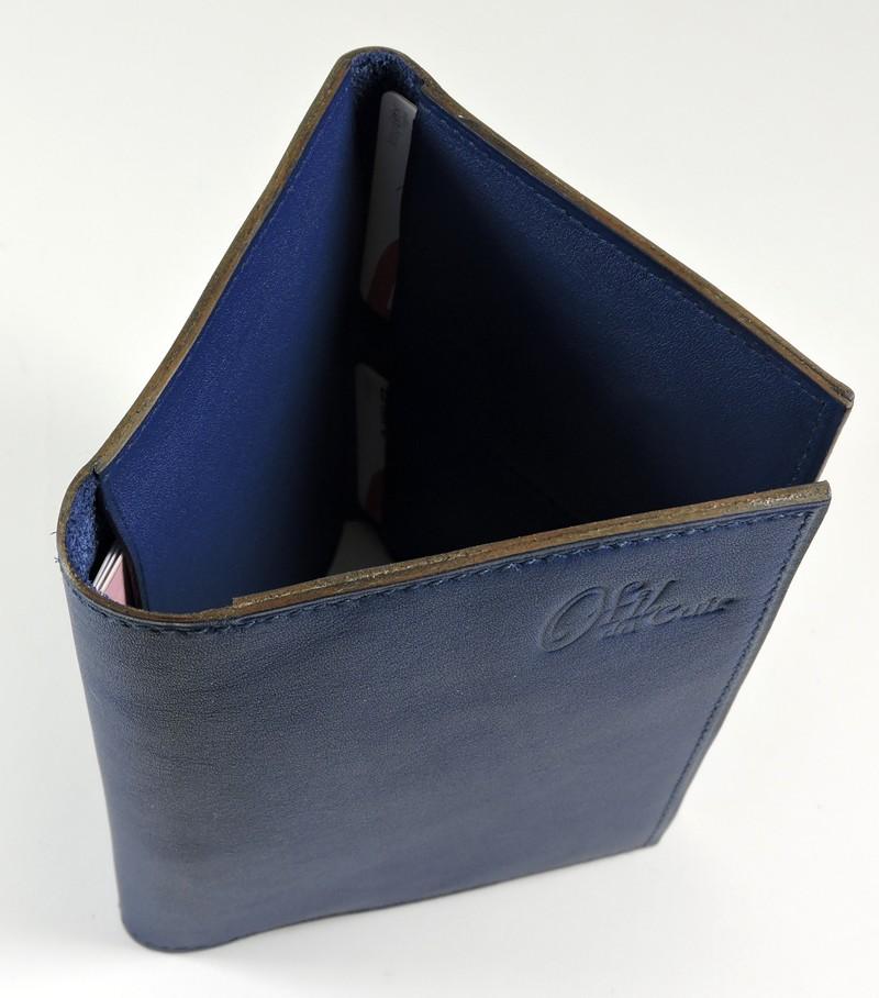 portefeuille cuir bleu homme petite maroquinerie ofilducuir
