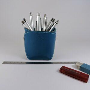 pot-crayon-cuir-ofilducuir-maroquinerie-lyon-bleu