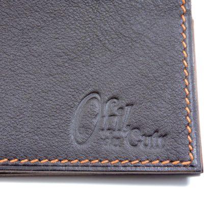 Protège chéquier cuir accessoire maroquinerie Lyon cuir marron femme