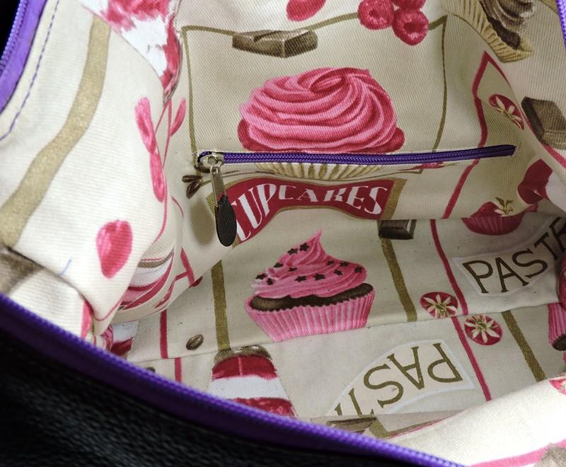 sac main tissu cup cake maroquinerie lyon femme
