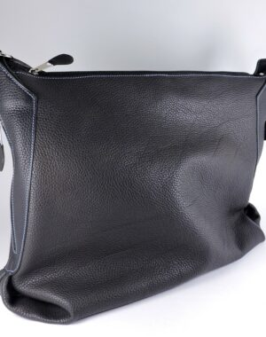 sac main bandouliere cuir graine noir femme lyon maroquinerie