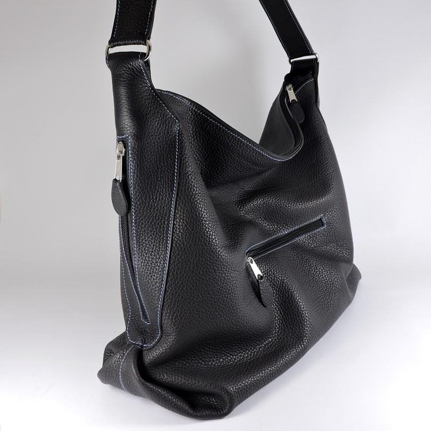 sac main cuir graine noir femme maroquinerie lyon