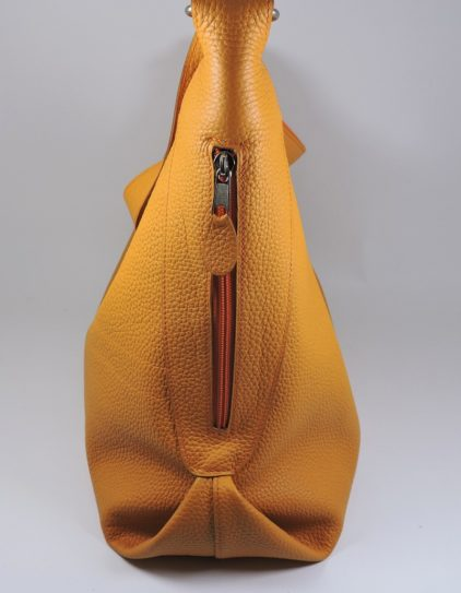 sac main cuir graine jaune maroquinerie lyon