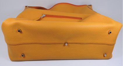 sac main cuir jaune graine maroquinerie lyon