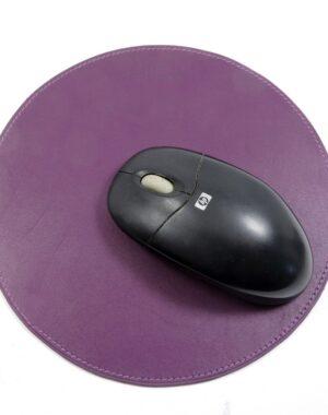 tapis souris ordinateur bureau cuir maroquinerie Lyon violet