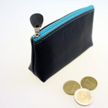 Porte monnaie ofilducuir cuir pochette maroquinerie Lyon femme noir