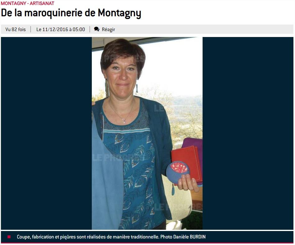 De la maroquinerie à Montagny.