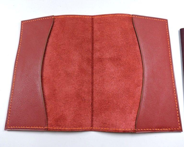Protège passeport voyage cuir bordeaux maroquinerie