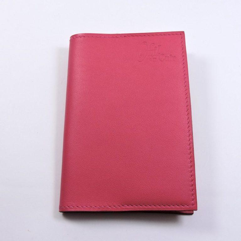 Protège passeport voyage cuir rose