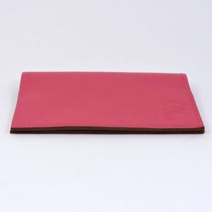 Protège passeport voyage cuir rose maroquinerie Lyon