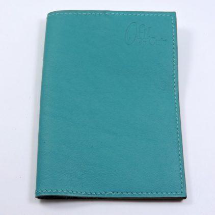 Protège passeport voyage cuir vert