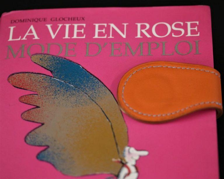 Marque page cuir orange magnétique accessoire ofilducuir