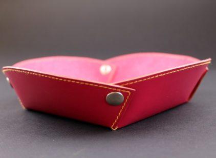 Vide poches cuir rouge accessoires maroquinerie lyonbureau cuir ofilducuir
