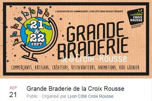 Braderie de la Croix Rousse le 21 et 22 septembre 2019