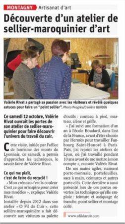 Article de presse Le Progrès.