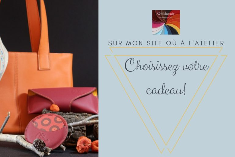 Carte cadeaux personnalisable maroquinerie Lyon Ofilducuir