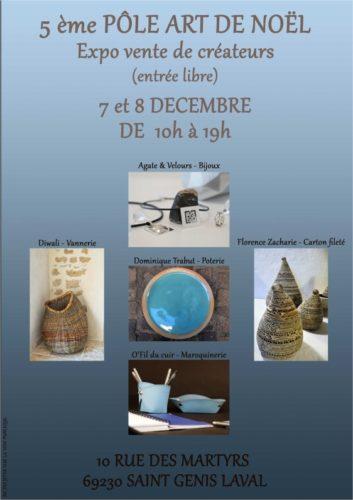 Exposition pôle art à St Genis Laval du 7 au 8 décembre 2019.