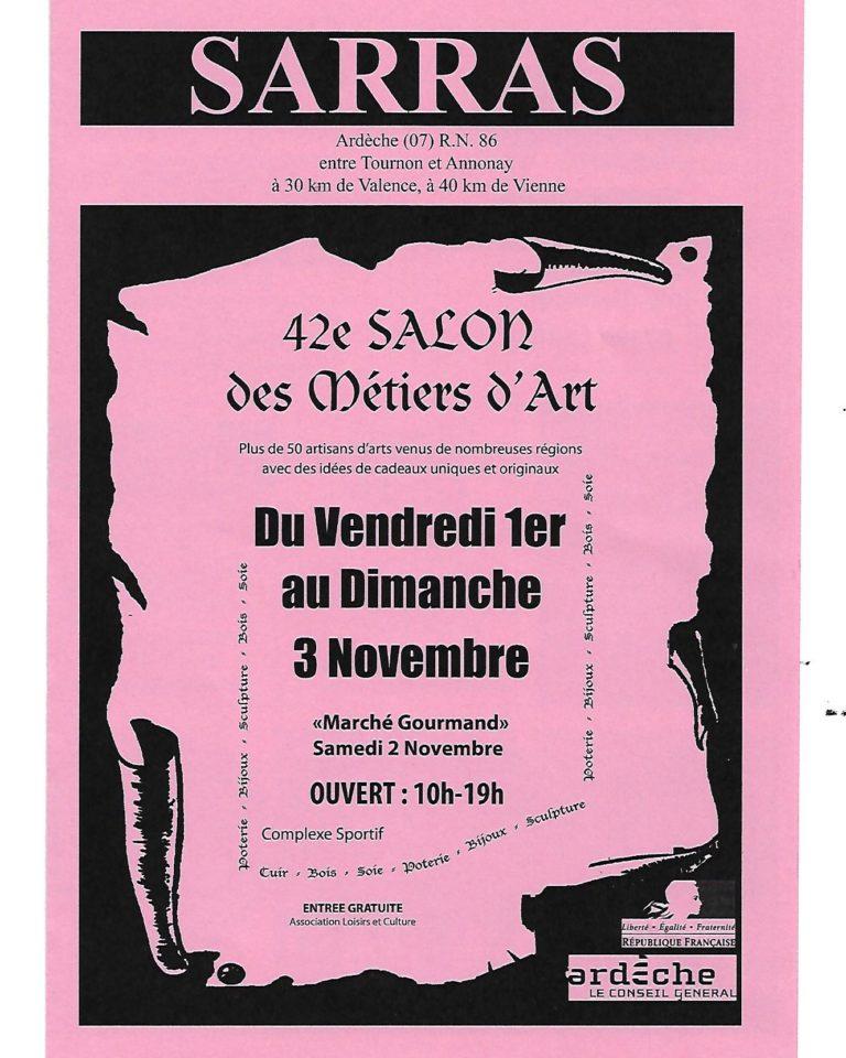 Exposition Sarras Ardèche Ofilducuir Salon métiers d'art