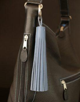 Pompon porte clef cuir décoration de sac à main de porte d'intérieur ofilducuir